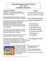 Rushville Elementary Library September Newsletter