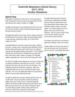 Rushville Elementary Library October Newsletter