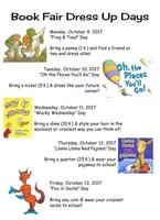 Rushville Elementary Book Fair Dress Up Days