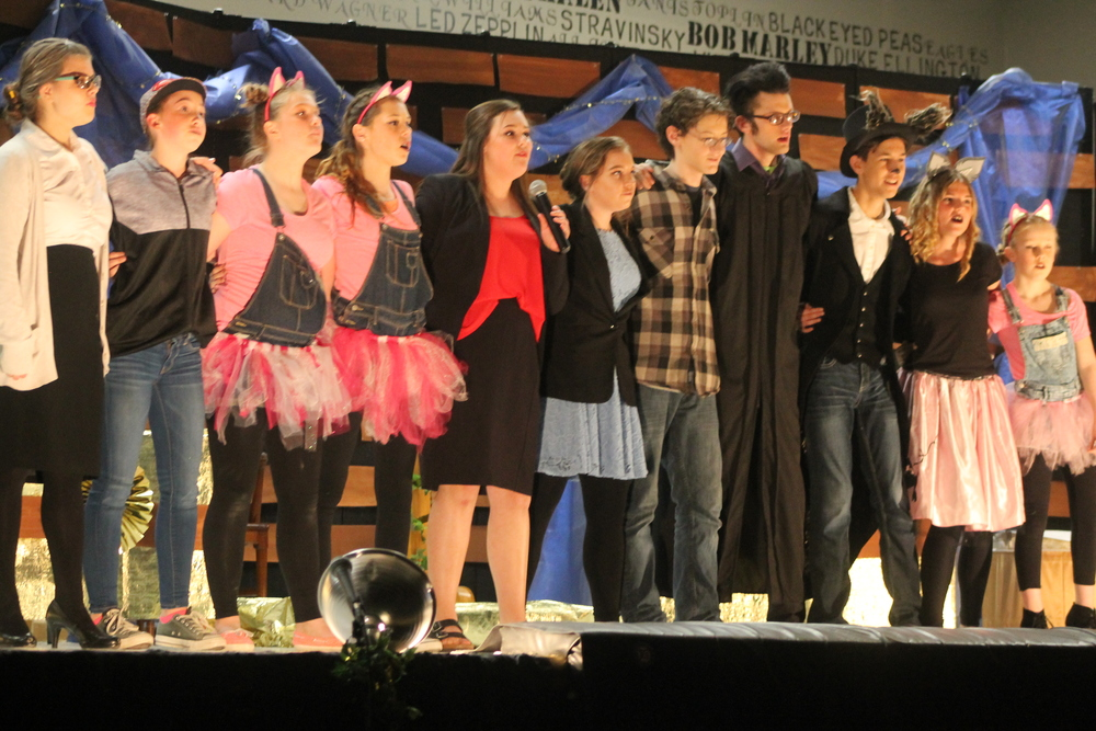 "Students participate in ""The Big Bad Musical"""