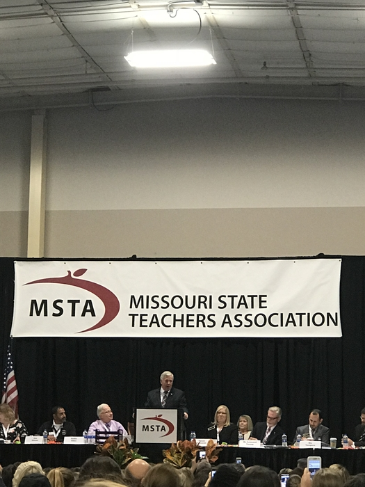 Governor Mike Parsons at the 2018 MSTA Convention