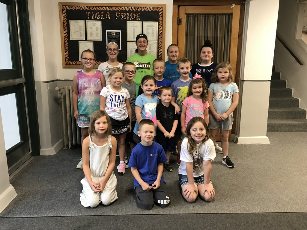 Students at Rushville Elementary who completed the summer reading program.