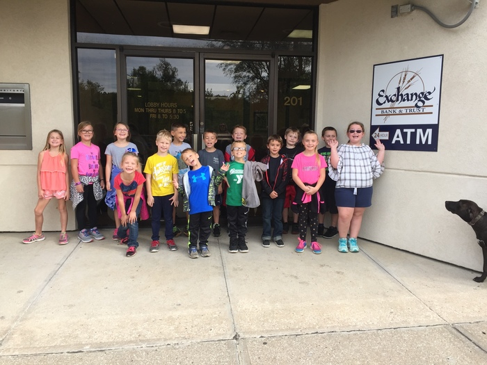 Ms. Henderson's 2nd grade at the bank in Rushville.