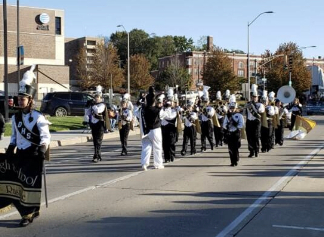 Tiger Pride Band in the MWSU parade.