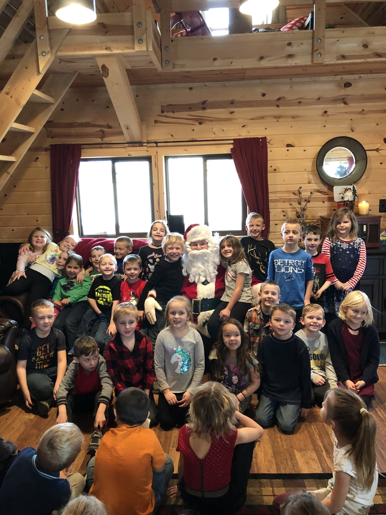 The first grade with Santa
