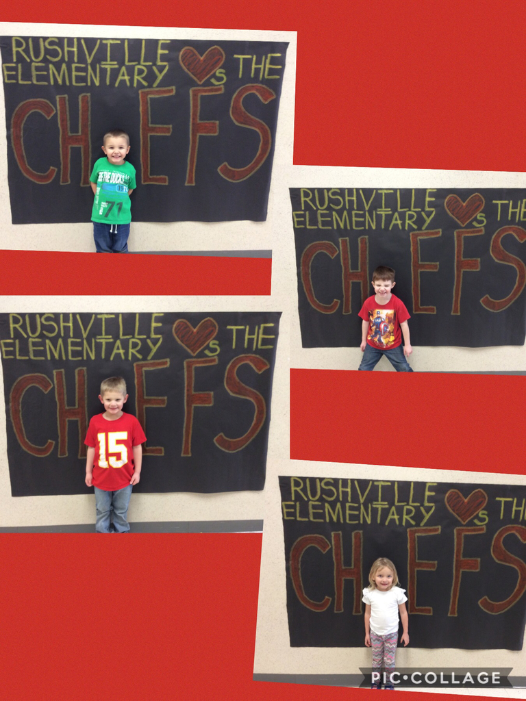 Preschool is cheering on the CHIEFS