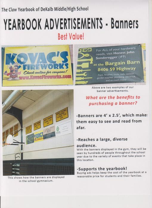 Yearbook Banner Ads