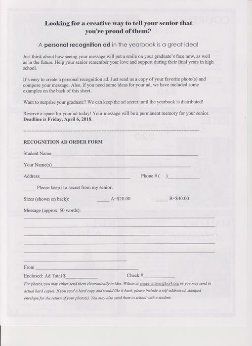 Senior Ad Form